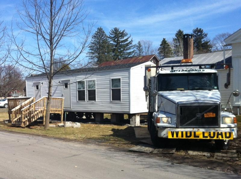 The Bryant Family FEMA Trailer was towed away on Thursday, April 4.