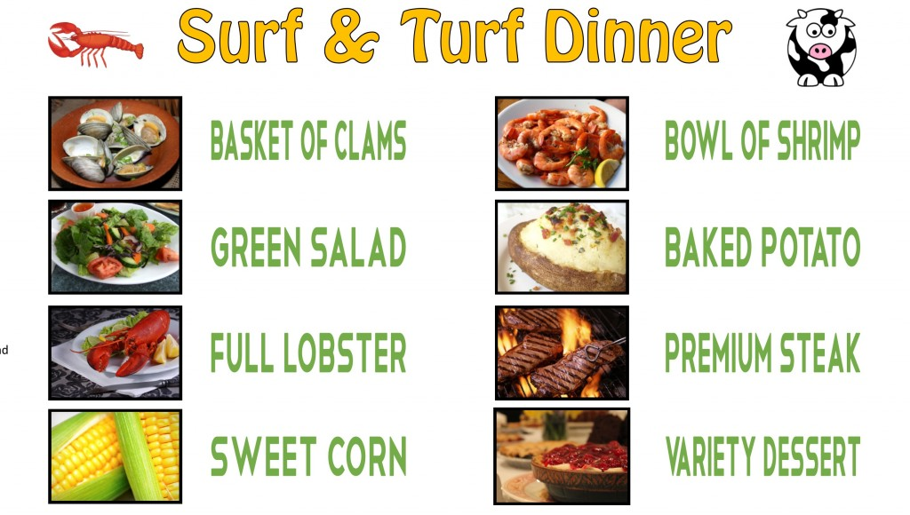 sept surf Menu