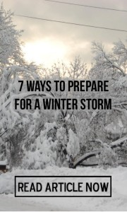 7 ways to prepare for a winter storm graphic
