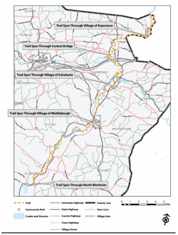 Schoharie Creek Trail Map