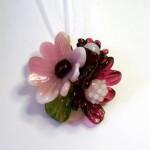 LoveNiNi Beads glass flower pendant