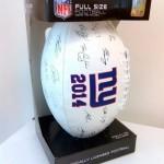 NY Giants autographed football