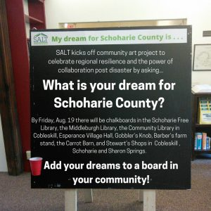 Dream Chalk Board at Middleburgh Library